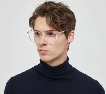Firmoo Blaulichtfilter Brille für Damen Herren ohne Sehstärke Anti Blaulicht UV Schutzbrille TR Vollrandbrille gegen Augenbelastung Entspiegelte Nerdbrille (Transparent) - 3