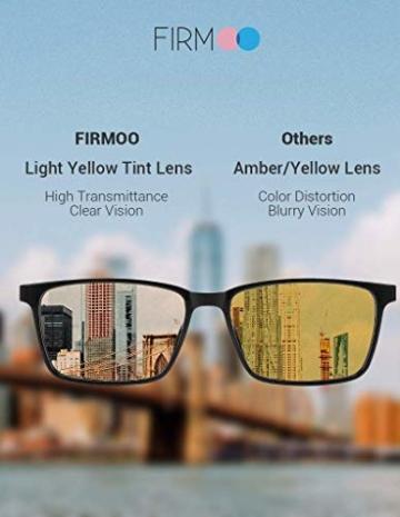 Firmoo Blaulichtfilter Brille für Damen Herren ohne Sehstärke Anti Blaulicht UV Schutzbrille TR Vollrandbrille gegen Augenbelastung Entspiegelte Nerdbrille (Transparent) - 7