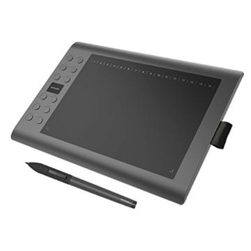 GAOMON M106K - 10 x 6 Zoll Profi Grafiktablett mit 12+16 Programmierender Tasten und Kabellosem Stift - 1