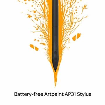 GAOMON M10K 2018 Version Stifttablett -10 x 6,25 Zoll Grafiktablett mit 8192 Druckempfindlichkeitsstufe Batterieloser Stift - 2