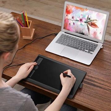 GAOMON M10K 2018 Version Stifttablett -10 x 6,25 Zoll Grafiktablett mit 8192 Druckempfindlichkeitsstufe Batterieloser Stift - 7