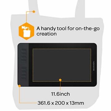 GAOMON PD1161 11.6 Inch Stift-Bildschirm mit 8 Schnelltasten und 8192 stufigem Batterie-freiem Stylus - 2