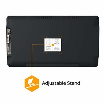 GAOMON PD1561 Stift-Display 15,6 Zoll IPS Monitor mit 10 Schnelltasten und 8192 Druckstufen batterielosem Stift - 8