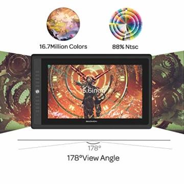 GAOMON PD156PRO 15,6 Zoll laminierter Grafik-Display mit 88% NTSC Farbraum (Dial Funktion,Entspiegelungsbeschichtung, batterielosem Stift mit Neigungserkennung, kompatibel mit Windows und Mac) - 4