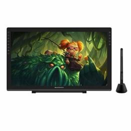GAOMON PD2200-22 Full HD Grafik-Display mit integriertem Standfuß, u. batterielosem AP32 Stift mit Neigungserkennung, kompatibel mit Windows & Mac - 1