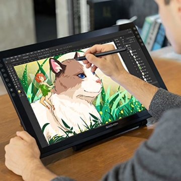 GAOMON PD2200-22 Full HD Grafik-Display mit integriertem Standfuß, u. batterielosem AP32 Stift mit Neigungserkennung, kompatibel mit Windows & Mac - 9