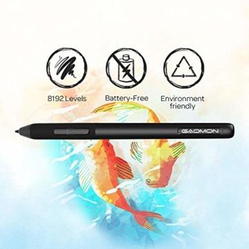 GAOMON S620 6,5 x 4 Zoll (Diagonale: 7,6 Zoll) Grafiktablett (mit 4 Express Tasten) mit batterielosem Stift - 2