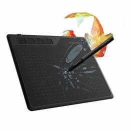 GAOMON S620 6,5 x 4 Zoll (Diagonale: 7,6 Zoll) Grafiktablett (mit 4 Express Tasten) mit batterielosem Stift - 1