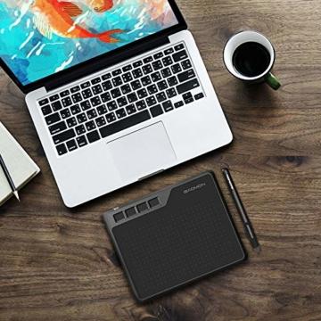 GAOMON S620 6,5 x 4 Zoll (Diagonale: 7,6 Zoll) Grafiktablett (mit 4 Express Tasten) mit batterielosem Stift - 9