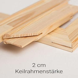 generisch Keilrahmen Bausatz 2 cm Holzleisten Set selbst zusammenbauen ohne Leinwand (40x50) - 1