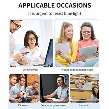 GIFIORE Runde Blaulichtfilter Brille Damen, Klassische Runde Computerbrillen,ohne Sehstärke, Blockieren Blaue Licht von PC, TV und Handy - 3