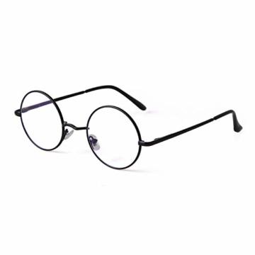 GIFIORE Runde Blaulichtfilter Brille Damen, Klassische Runde Computerbrillen,ohne Sehstärke, Blockieren Blaue Licht von PC, TV und Handy - 1