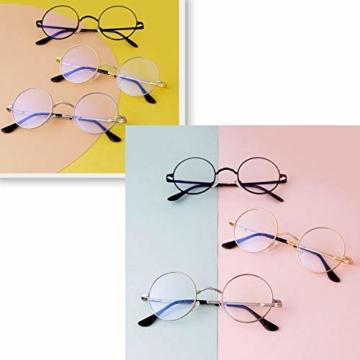 GIFIORE Runde Blaulichtfilter Brille Damen, Klassische Runde Computerbrillen,ohne Sehstärke, Blockieren Blaue Licht von PC, TV und Handy - 6