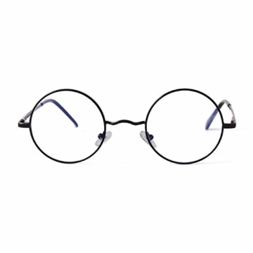 GIFIORE Runde Blaulichtfilter Brille Damen, Klassische Runde Computerbrillen,ohne Sehstärke, Blockieren Blaue Licht von PC, TV und Handy - 7