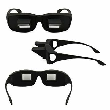 Gobesty Horizontal Brille, Horizontales Lazy Glasses für Entspannte Positionen im Bett und Sofa Lazy Readers (Schwarz) - 3