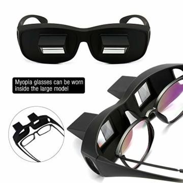 Gobesty Horizontal Brille, Horizontales Lazy Glasses für Entspannte Positionen im Bett und Sofa Lazy Readers (Schwarz) - 4