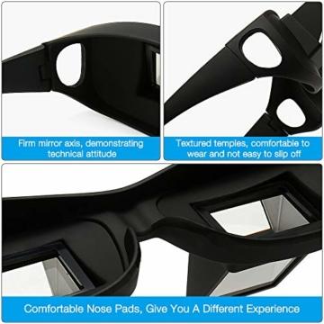 Gobesty Horizontal Brille, Horizontales Lazy Glasses für Entspannte Positionen im Bett und Sofa Lazy Readers (Schwarz) - 6