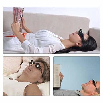 Gobesty Horizontal Brille, Horizontales Lazy Glasses für Entspannte Positionen im Bett und Sofa Lazy Readers (Schwarz) - 7