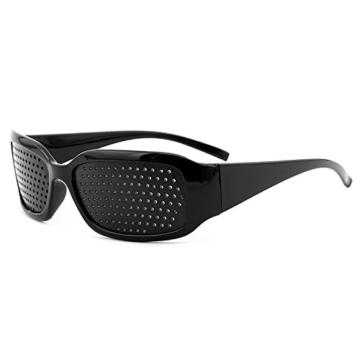 Grenhaven Schwarze Rasterbrille/Lochbrille für Augentraining Pinhole Glasses - 1