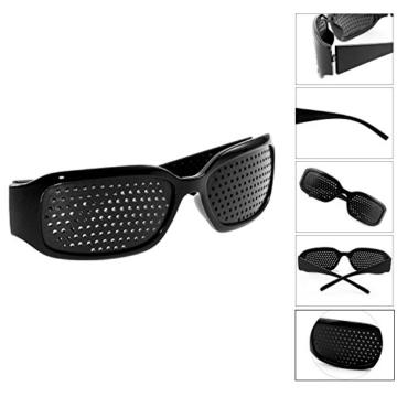 Grenhaven Schwarze Rasterbrille/Lochbrille für Augentraining Pinhole Glasses - 2