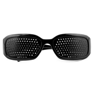 Grenhaven Schwarze Rasterbrille/Lochbrille für Augentraining Pinhole Glasses - 3