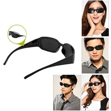 Grenhaven Schwarze Rasterbrille/Lochbrille für Augentraining Pinhole Glasses - 4