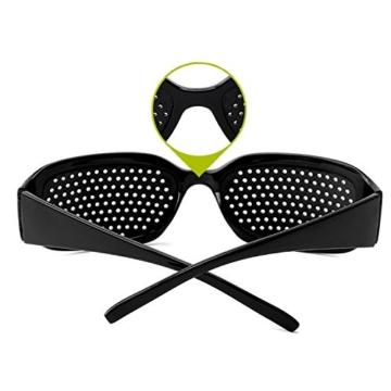 Grenhaven Schwarze Rasterbrille/Lochbrille für Augentraining Pinhole Glasses - 5