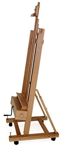 Große Studio Staffelei mit Kurbel, FSC® Buchenholz, für Keilrahmen bis 210cm, Profimodell Kurbelstaffelei - 5