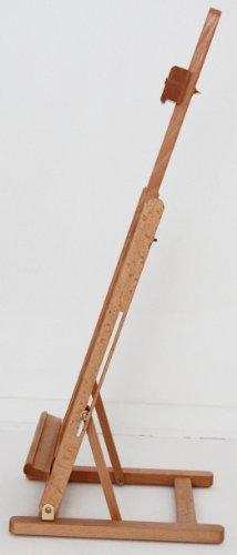 große TISCHSTAFFELEI aus Buche, für Keilrahmen bis 60 cm hoch, Staffelei - 3