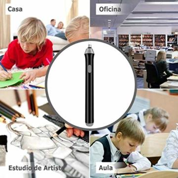 GuDoQi Elektrischer Radiergummi, 92 Stück Ersatzradiergummis, Batteriebetrieben, 2 Größen (2.3mm 5mm) Radiergummi, Elektro-Radierer für Bleistifte zeichnen, lernen, Büro, Architektur Kunst - 7