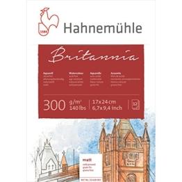 Hahnemühle 10628983 Aquarell-,Calligraphie-,Urkunden- und Postkartenblöcke Aquarellblock 300 g 12 Blatt - 1