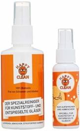 HAPPY CLEAN 1-Jahres Paket | Brillenreiniger | Spezialreiniger für Kunststoffgläser, entspiegelte Gläser und Oberflächen | Streifenfreie Sauberkeit | Silikon- und Alkoholfrei | 100 Prozent Biobasis - 1
