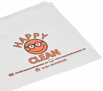 HAPPY CLEAN 1-Jahres Paket   Brillenreiniger   Spezialreiniger für Kunststoffgläser, entspiegelte Gläser und Oberflächen   Streifenfreie Sauberkeit   Silikon- und Alkoholfrei   100 Prozent Biobasis - 5