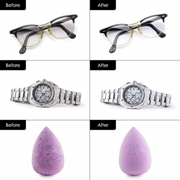 himaly Ultraschallreiniger,650ML Ultraschallreiniger Reinigungsgerät Ultraschallreinigungsgerät Reiniger Reinigungswerkzeug Reinigung von Schmuck Uhren Brillen Zahnersatz - 4