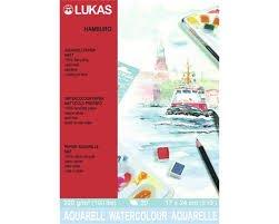 "Hochwertiges ""LUKAS Aquarellpapier HAMBURG"" 20 Blatt Block - 17 x 24 cm - Naturweiß - Artikelnr. 56010002 -"