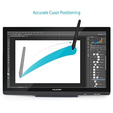 Huion GT-220V2 Schwarz Grafiktablet mit Display 21.5 Inch Interaktive Zeichnung Monitor Display IPS Panel HD Auflösung (1920x1080) - 2