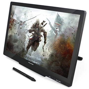Huion GT-220V2 Schwarz Grafiktablet mit Display 21.5 Inch Interaktive Zeichnung Monitor Display IPS Panel HD Auflösung (1920x1080) - 1