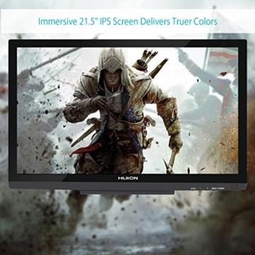 Huion GT-220V2 Schwarz Grafiktablet mit Display 21.5 Inch Interaktive Zeichnung Monitor Display IPS Panel HD Auflösung (1920x1080) - 5