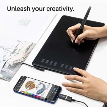Huion Inspiroy H950P Grafiktablett 8 benutzerdefinierbare ExpressKeys mit batterielosem digitalen Stift Kann Tilt-Funktion aktualisieren - 2