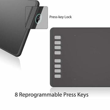 Huion Inspiroy H950P Grafiktablett 8 benutzerdefinierbare ExpressKeys mit batterielosem digitalen Stift Kann Tilt-Funktion aktualisieren - 6