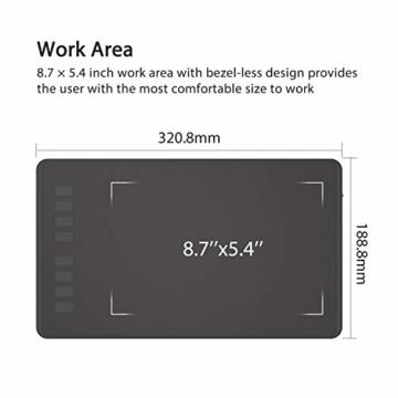 Huion Inspiroy H950P Grafiktablett 8 benutzerdefinierbare ExpressKeys mit batterielosem digitalen Stift Kann Tilt-Funktion aktualisieren - 7