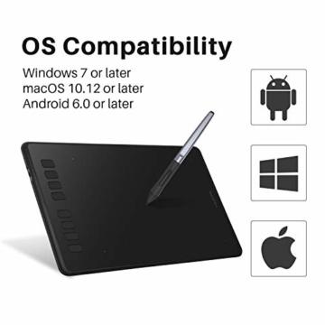 Huion Inspiroy H950P Grafiktablett 8 benutzerdefinierbare ExpressKeys mit batterielosem digitalen Stift Kann Tilt-Funktion aktualisieren - 8