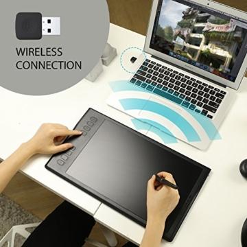 HUION Inspiroy Q11K V2, 8192 Druckempfindlichkeitsstufen, Kabelloses Grafiktablet mit batteriefreiem Stift und unterstützender Stift-Neigungssensor-Funktion - 3