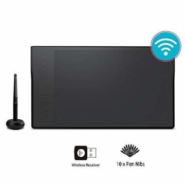 HUION Inspiroy Q11K V2, 8192 Druckempfindlichkeitsstufen, Kabelloses Grafiktablet mit batteriefreiem Stift und unterstützender Stift-Neigungssensor-Funktion - 1