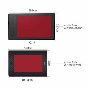 Huion INSPIROY Q11K Wireless Digitales Grafik Zeichnen Stift Tablet mit 8192 Druckstufen und 8 Shortcut Keys Tasten drahtlos ein Freier Handschuh - 2