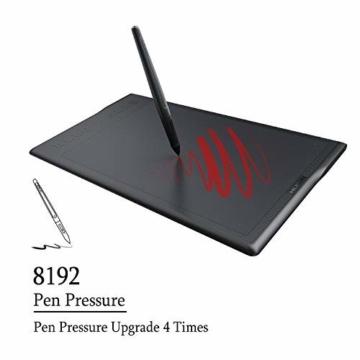 Huion INSPIROY Q11K Wireless Digitales Grafik Zeichnen Stift Tablet mit 8192 Druckstufen und 8 Shortcut Keys Tasten drahtlos ein Freier Handschuh - 3