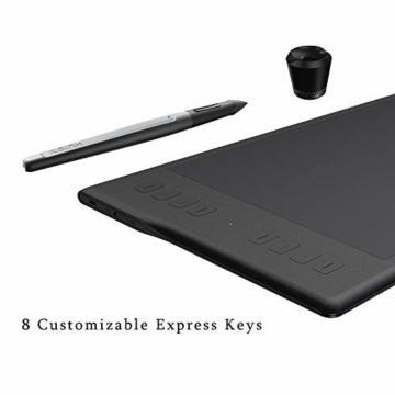 Huion INSPIROY Q11K Wireless Digitales Grafik Zeichnen Stift Tablet mit 8192 Druckstufen und 8 Shortcut Keys Tasten drahtlos ein Freier Handschuh - 5