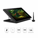 HUION Kamvas PRO 12 HD 11,6 in Tablet-Monitor-Neigungsfunktion unterstützt einen batterielosen Stift mit 8192 Druckstufen und 4 Schnellzugriffstasten 1 Touch Bars-Grafiktablett mit Bildschirm - 1