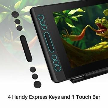 HUION Kamvas PRO 12 HD 11,6 in Tablet-Monitor-Neigungsfunktion unterstützt einen batterielosen Stift mit 8192 Druckstufen und 4 Schnellzugriffstasten 1 Touch Bars-Grafiktablett mit Bildschirm - 4