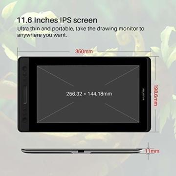HUION Kamvas PRO 12 HD 11,6 in Tablet-Monitor-Neigungsfunktion unterstützt einen batterielosen Stift mit 8192 Druckstufen und 4 Schnellzugriffstasten 1 Touch Bars-Grafiktablett mit Bildschirm - 5